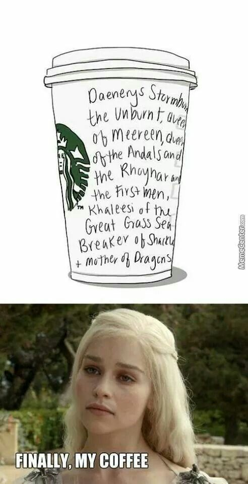 I get chills when I hear this on the show, but I do realize GRRM may have gone a little overboard with the