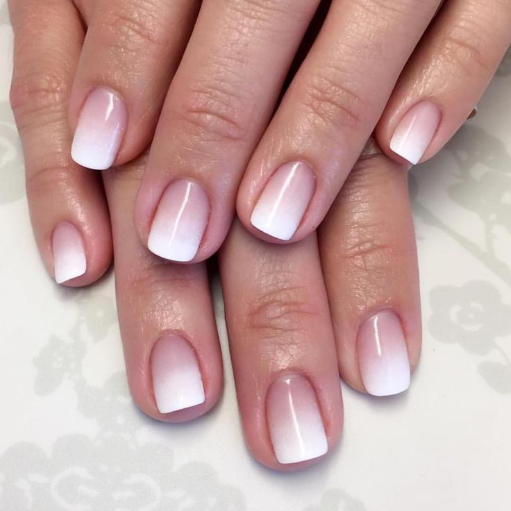 Ombré French manicure