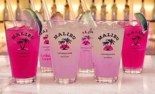 Refreshing cocktails and mixed drinks