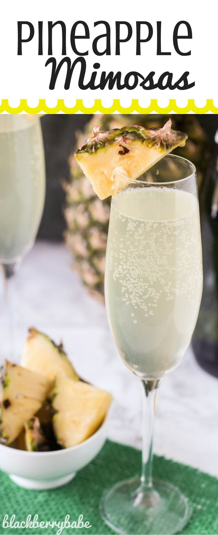 Pineapple Mimosas | It is a fruity, tropical twist on traditional ...