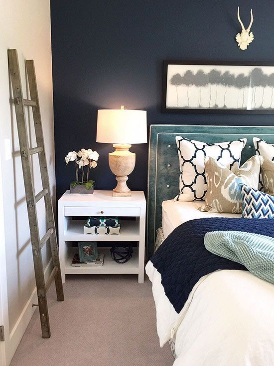 Indigo is rich bold and on trend in fashion home decor for Fsu bedroom ideas