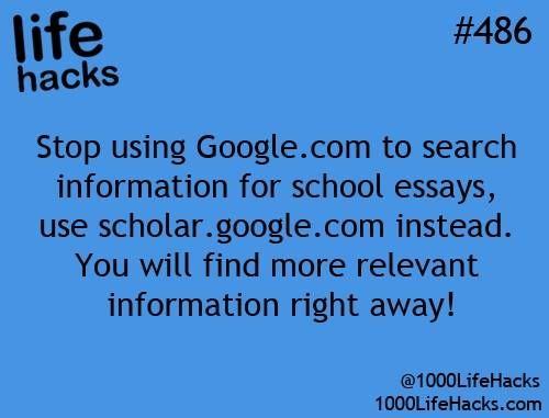 scholar.google.com life hacks