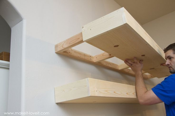 How to Build SIMPLE FLOATING SHELVES (…for any room in the house!)   via Make It and Love It