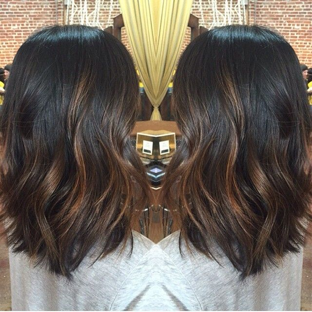balayage hair dark brown medium length – Google Search