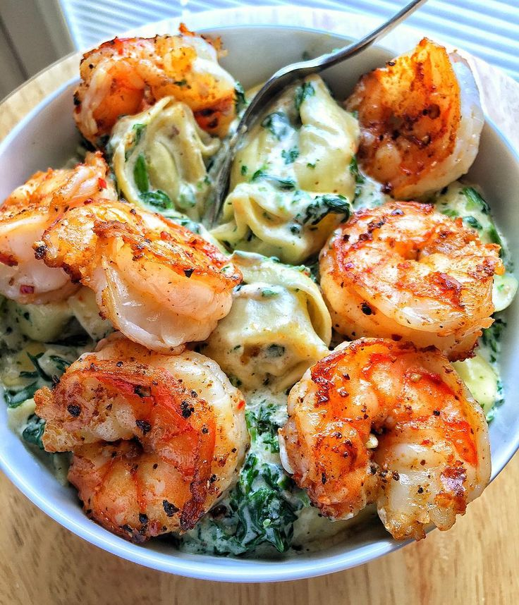 Creamed Spinach Tortellini Old Bay Shrimp Recipe At