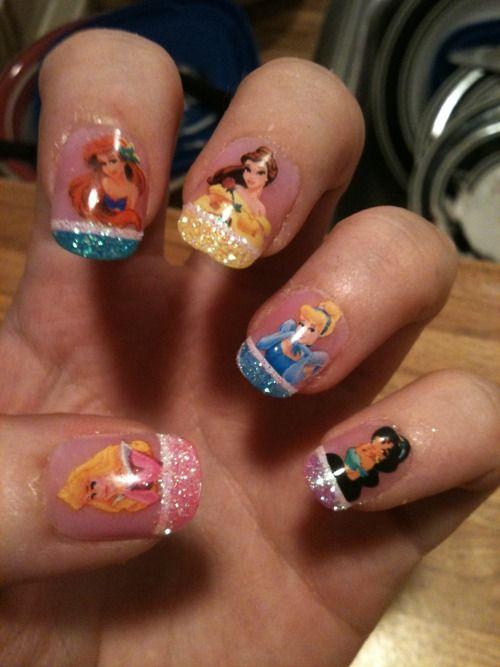 Disney Princess nails?!!… yes please.