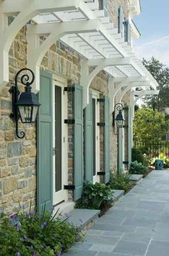 Shutters, lanterns, home numbers and so on are all details that can enhance a homes appeal.