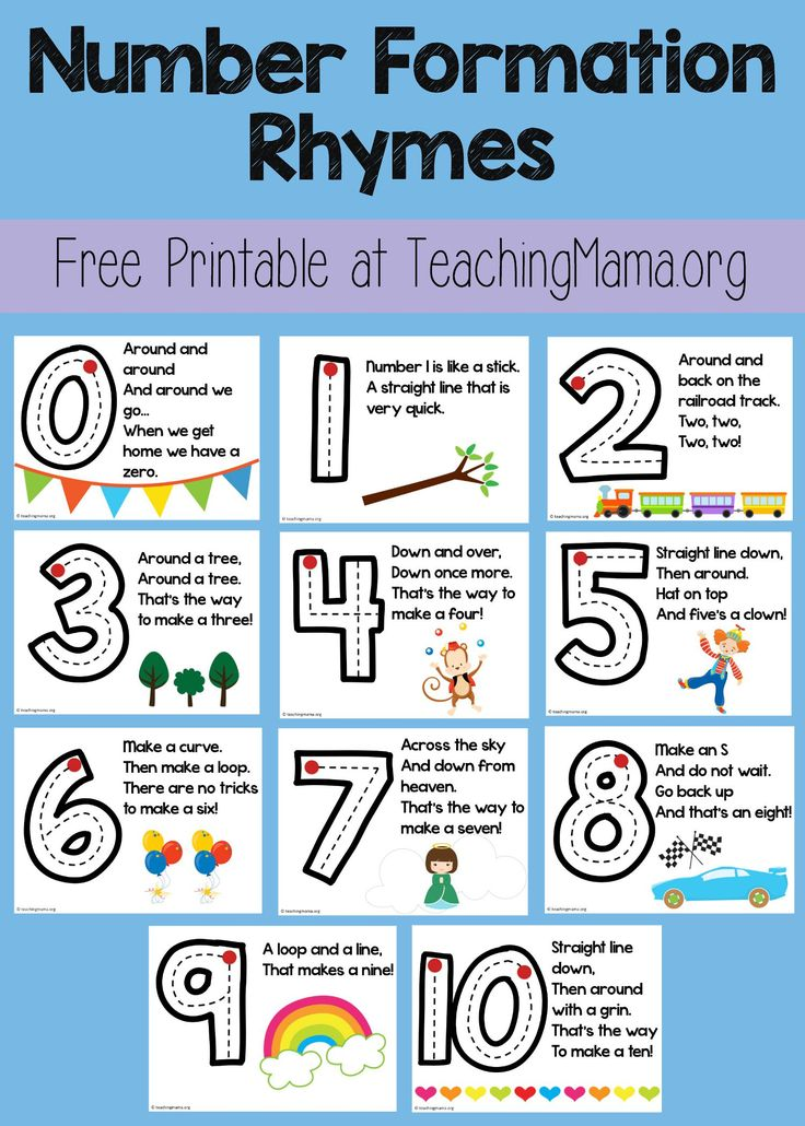 I'm excited to share with you my Number Formation Rhymes ! I've been teaching my little ones how t