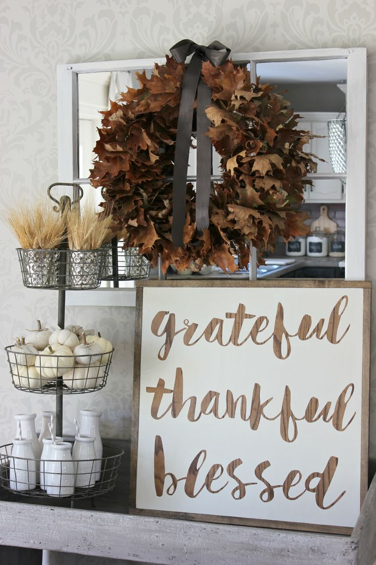 Grateful Thankful Blessed Vignette