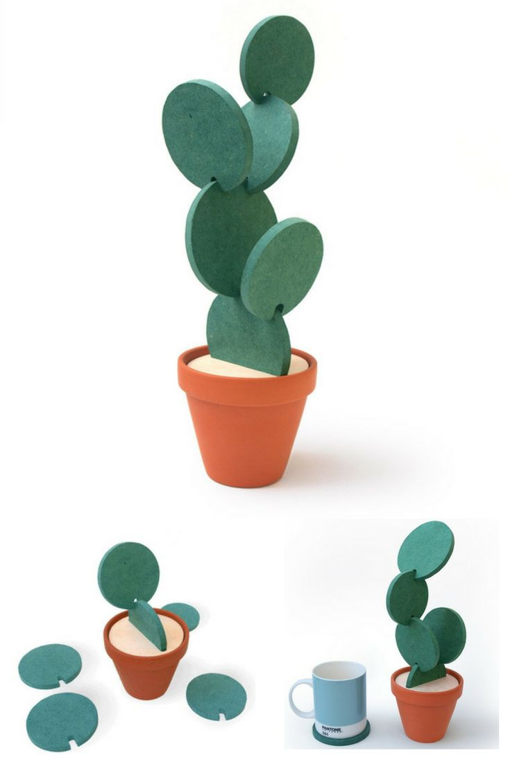 Dont store your coasters away use them to make a Cactus! Recreate the desert