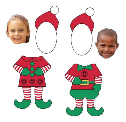 free download (elf outline) Great kick off for writing about being an elf!