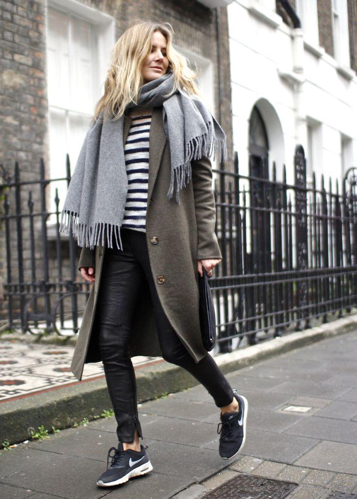 J Crew – Leather Pants – Stripes #nike