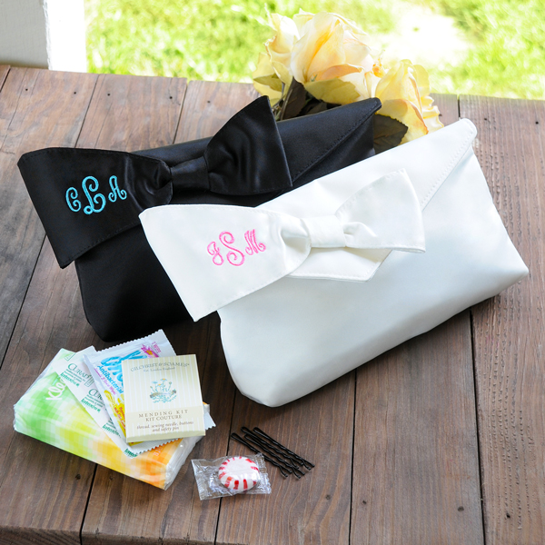 Personalized Bridesmaid Clutch with Survival Kit -Cute for my bridesmaids