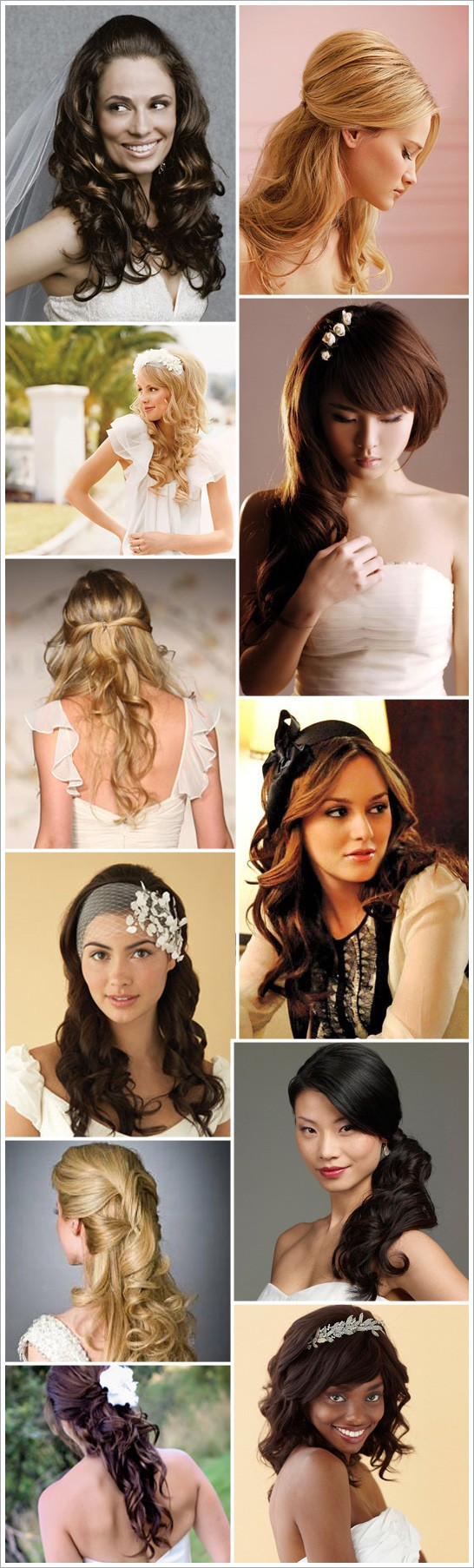 Love these hair do's for a wedding!