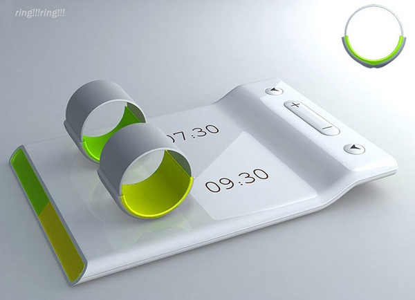 STOP!  Couples' alarm clock – Put the ring on your finger and it vibrates to