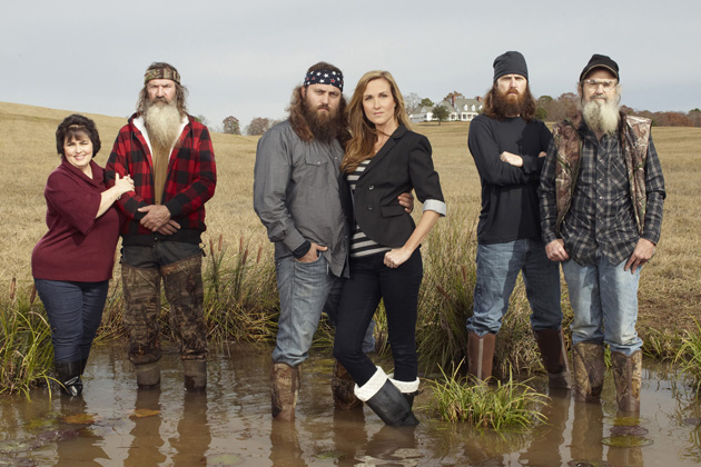 Miss Kay, Phil, Willie, Korie, Jase and Si Robertson–DUCK DYNASTY