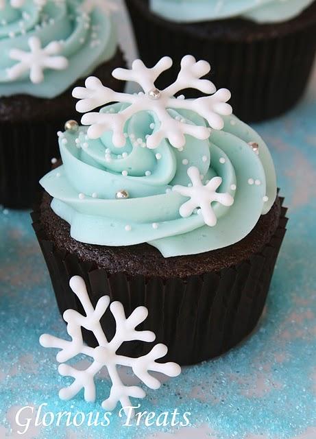 Snow flake cupcake