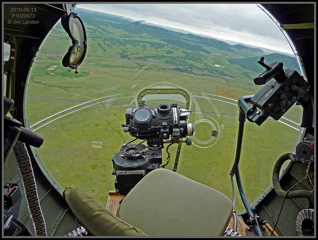 The View From The Nose  This is the view from the B-17