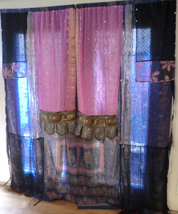 Gypsy curtains. I want to make these!