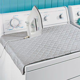 Duh! This makes way more sense than dragging an ironing board out: Quilted ironi
