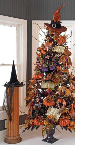 RAZ Black and Bling Halloween Tree