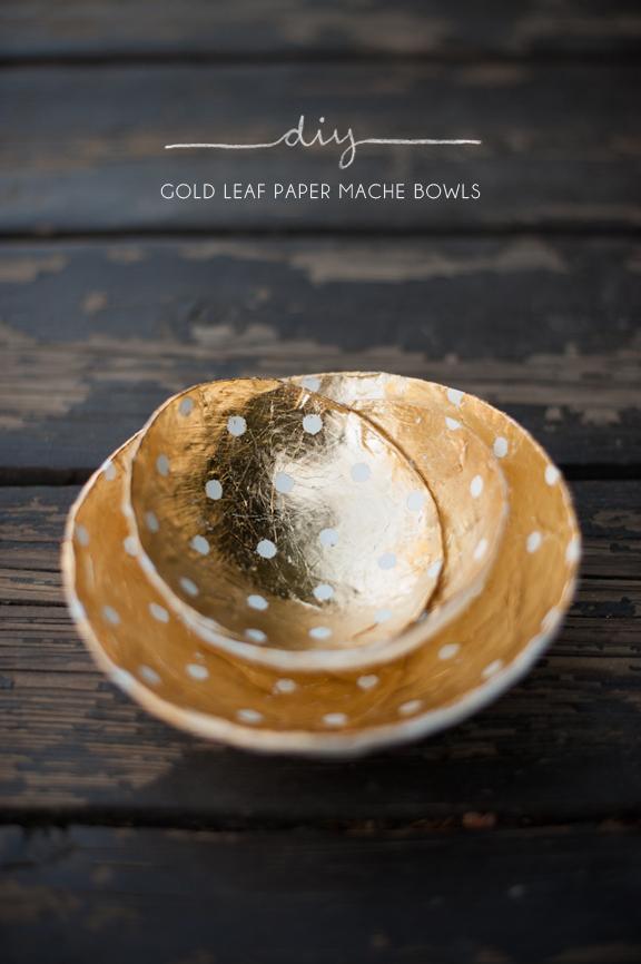 LABRUCE , like? woudl be fun!diy_gold leaf paper mache bowls