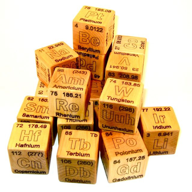 Start 'em young!! Periodic Table of Elements Wooden Blocks