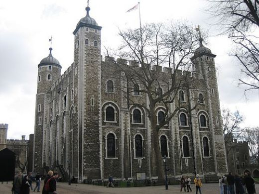 The Tower of London.  Former prison and execution site of second wife of Henry t