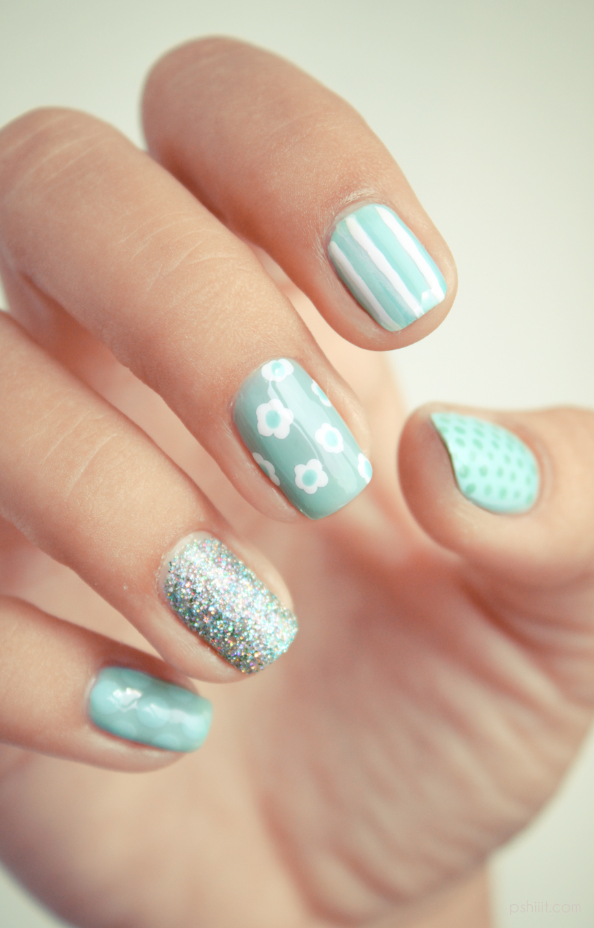 Sweet minty #Nails