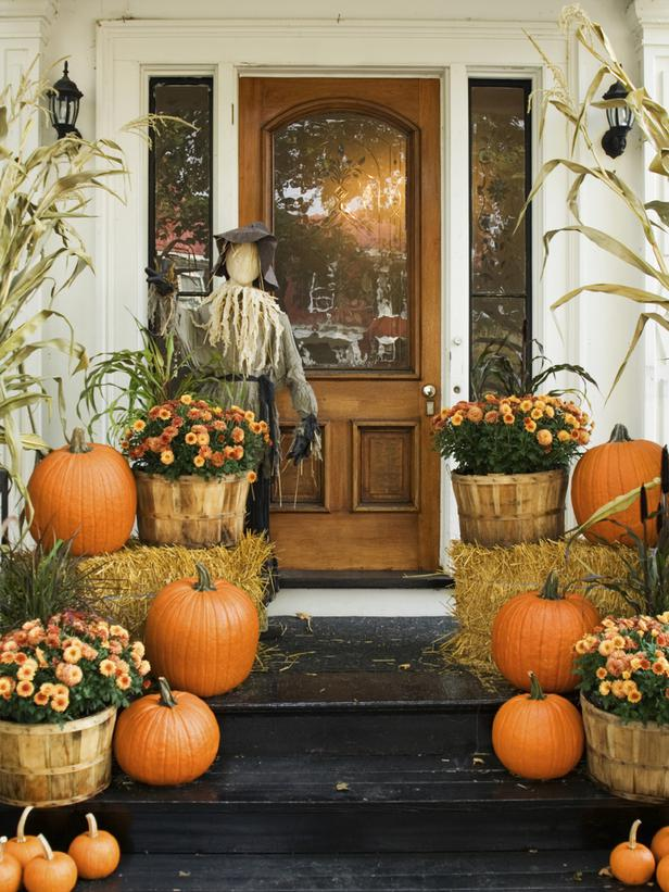 fun fall decor!!  Celebrate Autumn With Fall's Best Porches and Patios : Out
