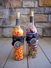 halloween wine bottles