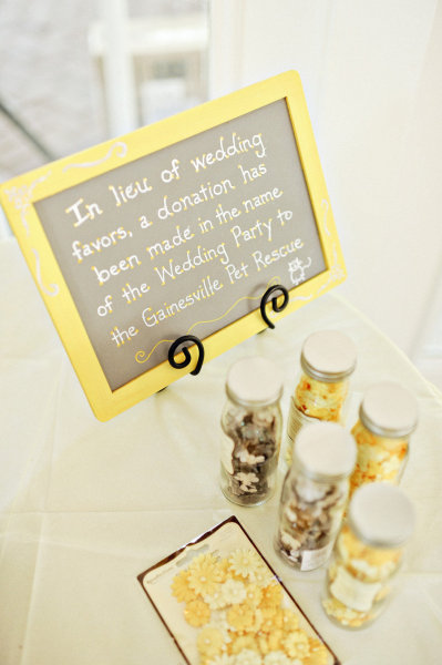 donation wedding favors pinpoint