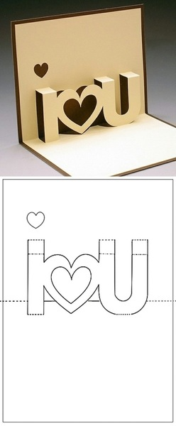 So cute! Fold the dashed lines and cut along the solid line.