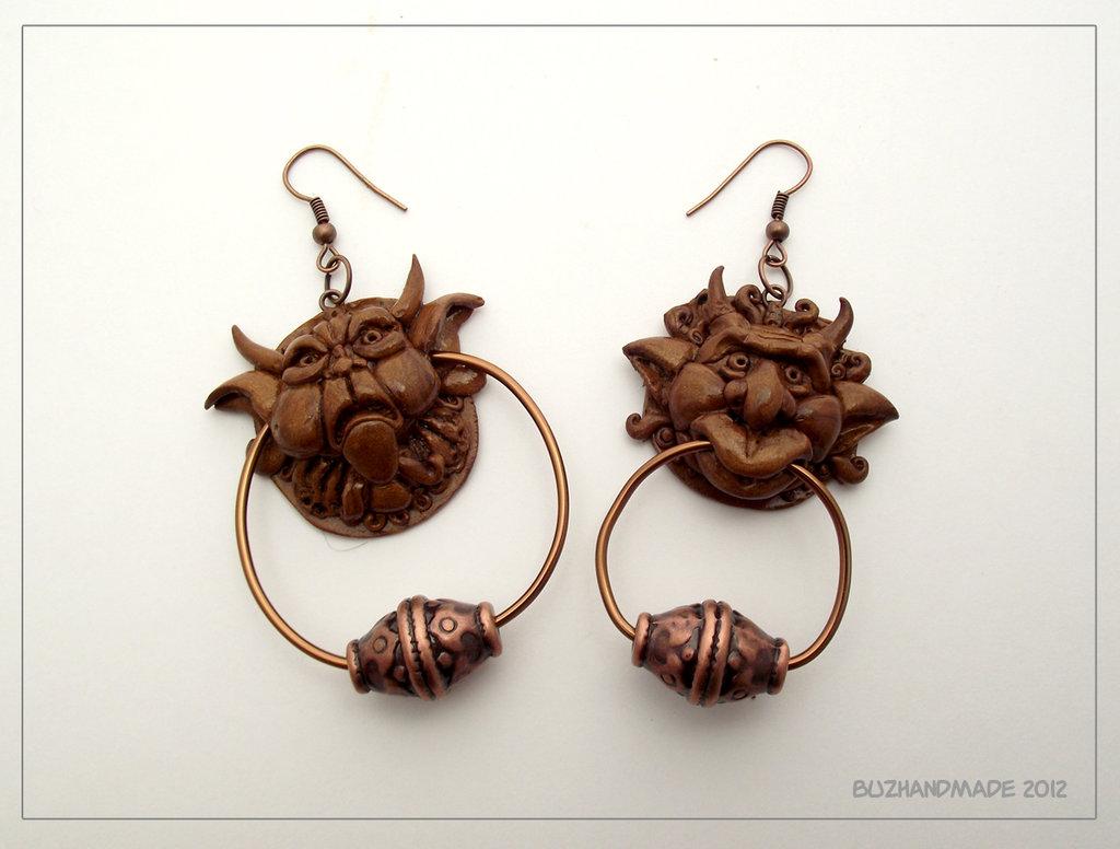 Labyrinth Knocker earrings – by ~buzhandmade on DA