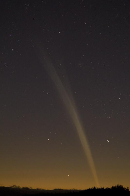 Dec. 22, 2011 – Himatangi Beach, New Zealand ~ The Comet's tail was poking o