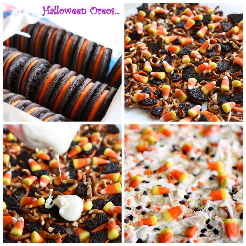 Halloween Candy Corn Cookie Bark Recipe!