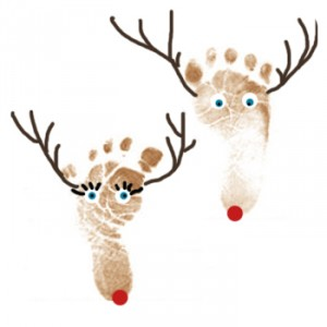fun Christmas crafts! Would also make a cute card (use both kids' feet).