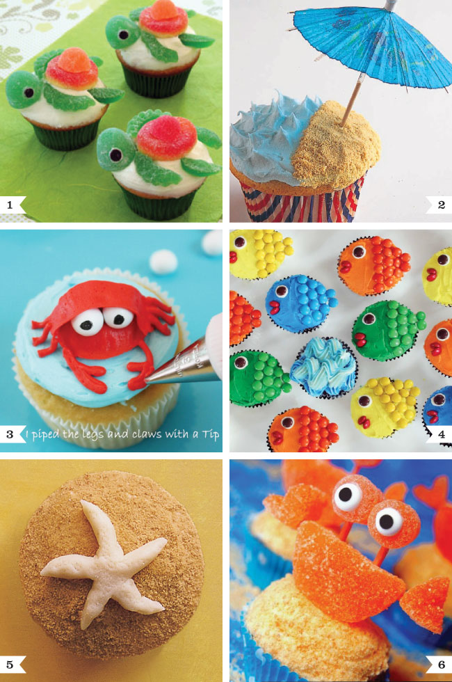 Under the Sea cupcakes  Pool party