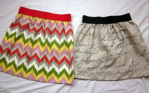 Easy Sew Skirt.