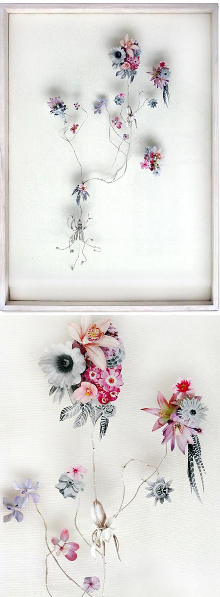 Whoa. Utrecht based artist Anne Ten Donkelaar is taking cut flowers to an entire