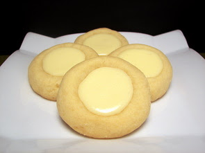 Cheesecake Thumbprint Cookies. Cream cheese, sugar, salt, eggs, sour cream, vani