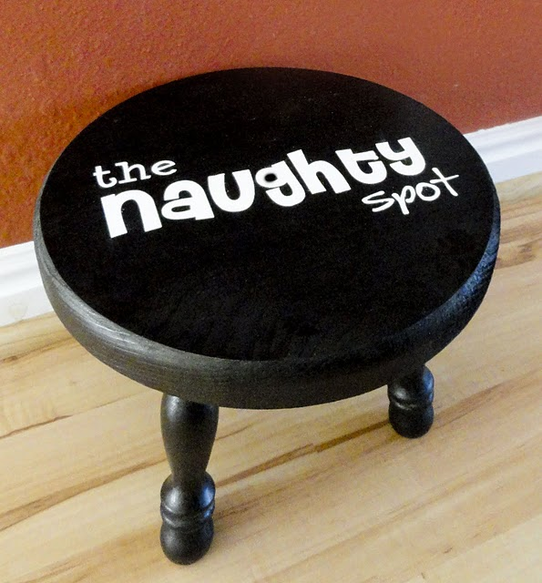 the naughty spot! love it! not that we'd need it :)