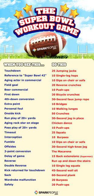 The Super Bowl Workout Game!