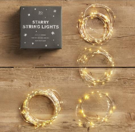 Starry String Lights Gold : Tutorial for taking a cheap walmart mirror and giving it a wide wood frame cos PinPoint