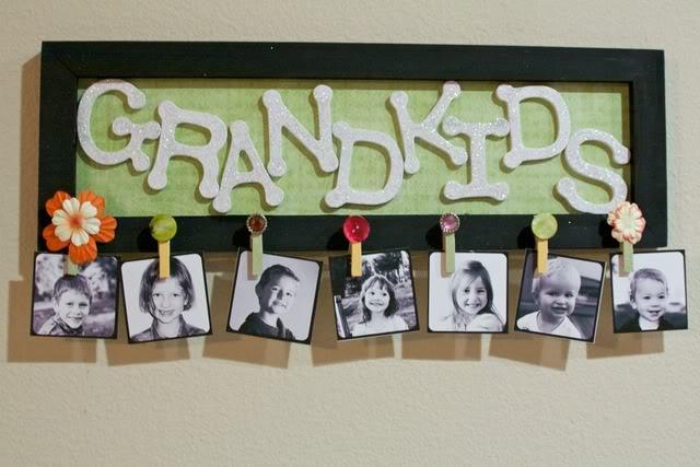 DIY Grandkids sign #gift #grandparents