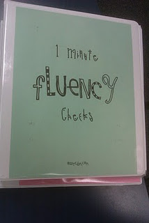 1 minute fluency checks by grade level!!  AWESOME!!