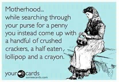 Any mother has experienced this at one time or another! I always have a crayon!