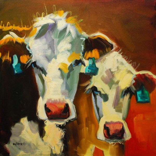 """I have these: Diane Whitehead cow painting """"Sibling Cows"""""""