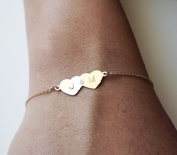 couples initials bracelet-so cute!