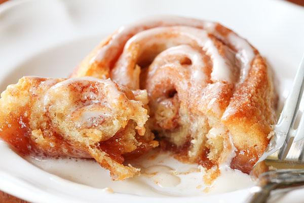 Cinnamon buns (using crescent roll dough!)